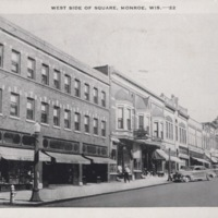 West Side of the Square in Monroe, Wisconsin