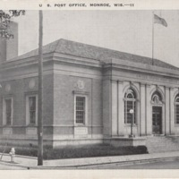 United States Post Office in Monroe, Wisconsin