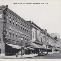 West Side of Square in Monroe, Wisconsin