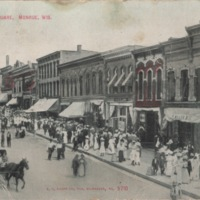 East Side of Square in Monroe, Wisconsin