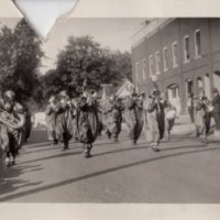 Blanchardville Clown Band Marches in 1928 Parade
